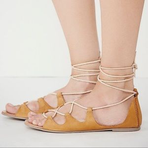 FREE PEOPLE MARRAKESH LACE UP LEATHER SANDAL